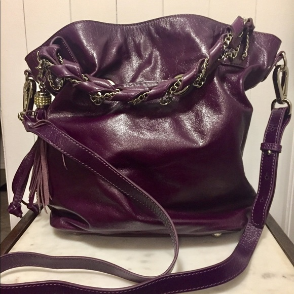 Dissona Purple leather bag.